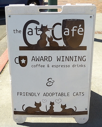 Cat Cafe sign1