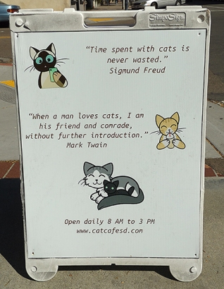Cat Cafe sign2