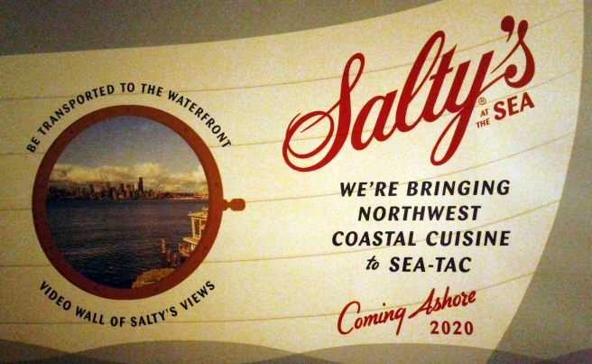 Salty's sign at Sea-Tac