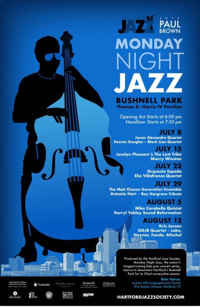2019-Paul-Brown-Monday-Night-Jazz-poster-Hartford
