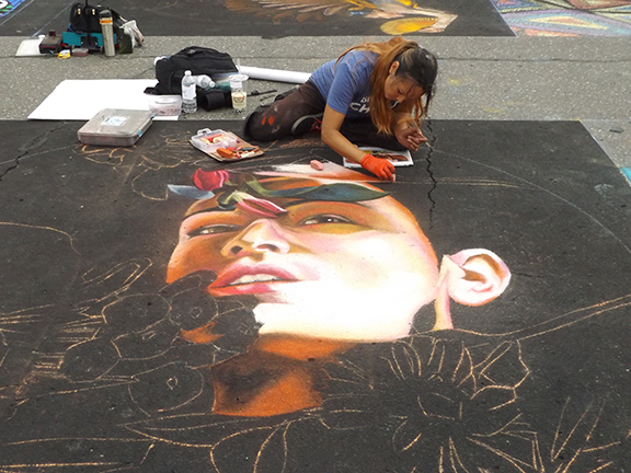La-Strada-dei Pastelli-Chalk-Art-Festival-Beaverton1