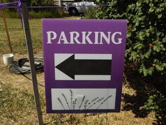 parking-sign-Selah-Ridge-Lavender-Farm