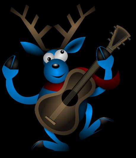 blue-reindeer-playing-guitar