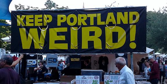 Keep-Portland-Weird-sign-Waterfront-Blues-Festival