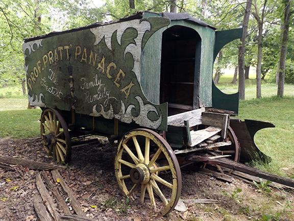 Beeson-Bridge-medicine-show-wagon-Billie-Creek-Village-Park-County-Indiana
