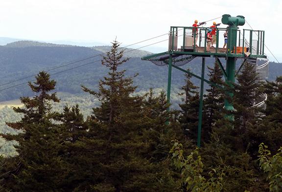 Soulfest-zipline-platform-Gunstock-Mountain