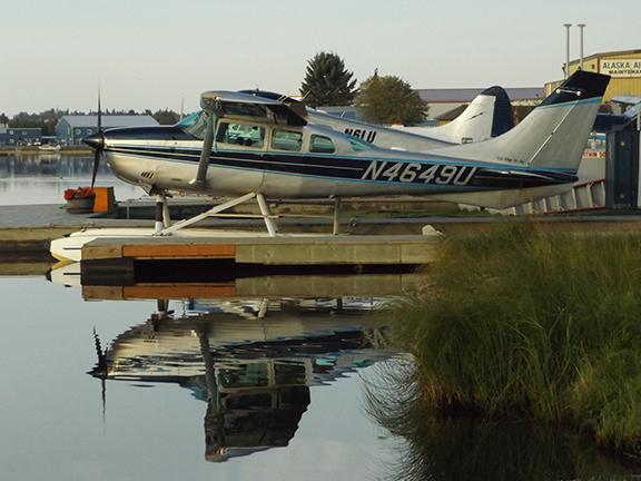 floatplanes-parked-at-Regal-Air-Anchorage-Alaska