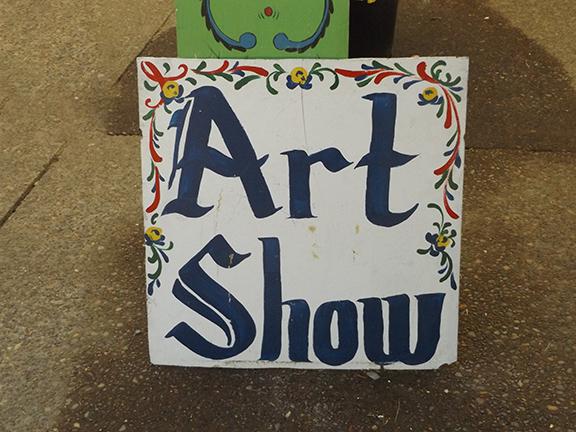 Scandinavian Festival-art-show-sign